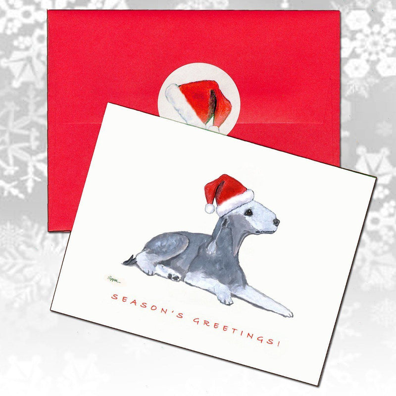 Bedlington Terrier Christmas Note Cards