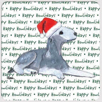 "Bedlington Terrier ""Happy Howlidays"" Coaster"