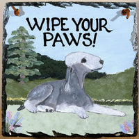 Bedlington Terrier Slate Sign