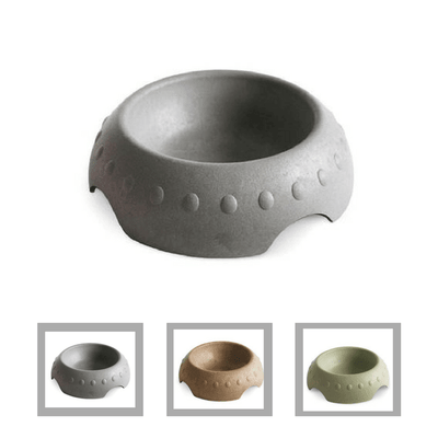 Rice Hull Dog Feeding Bowl