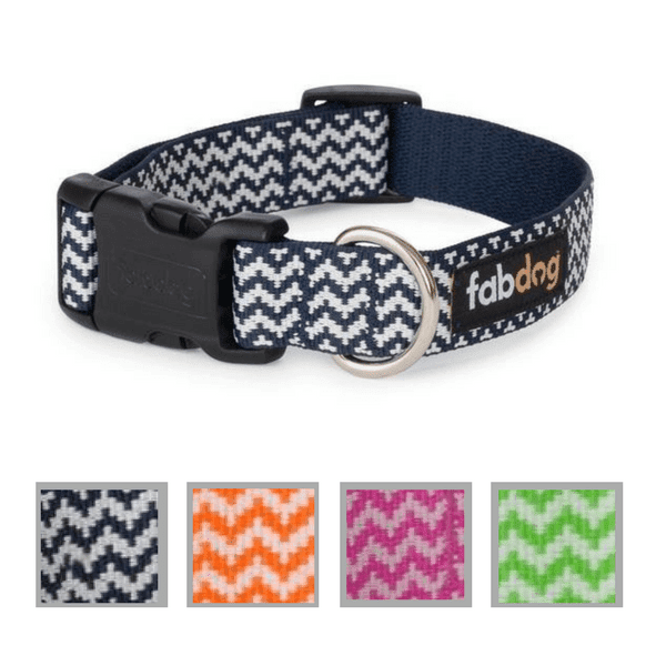 Nylon Chevron Stripe Dog Collar