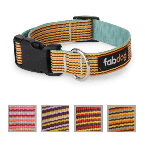 Nylon Mini Stripe Dog Collar