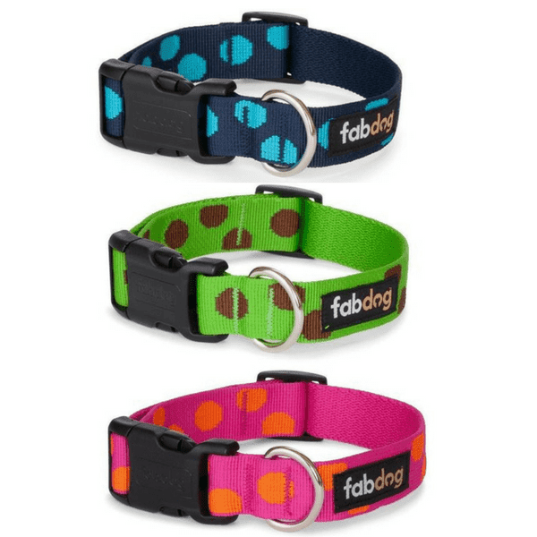 Nylon Polka Dot Dog Collar