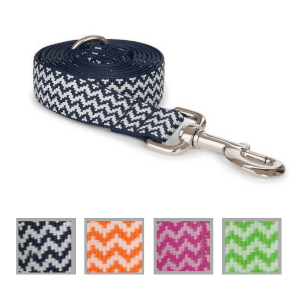 Nylon Chevron Stripe Dog Leash