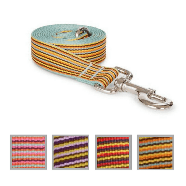 Nylon Mini Stripe Dog Lead