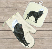 Belgian Sheepdog Oven Mitt and Pot Holder
