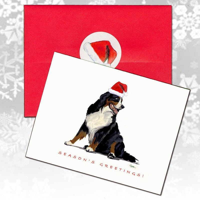 Bernese Mountain Dog Christmas Note Cards
