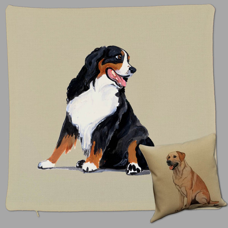Bernese Mountain Dog Pillow Cover