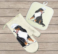 Bernese Mountain Dog Oven Mitt and Pot Holder