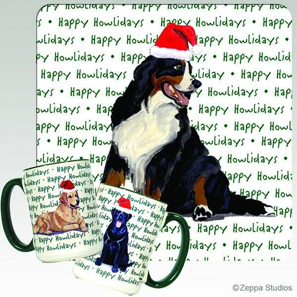 Bernese Mountain Dog Holiday Mug