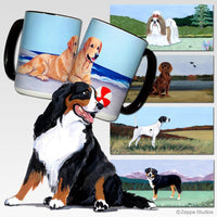 Bernese Mountain Dog Scenic Mug