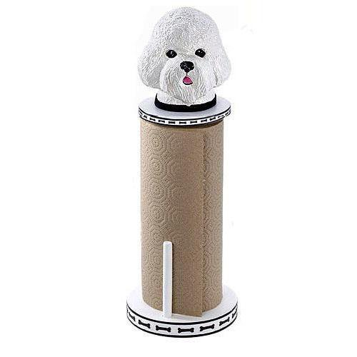 Bichon Frise Paper Towel Holder