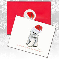 Bichon Frise Christmas Note Cards