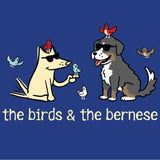 The Birds & The Bernese  - Ladies Long-Sleeve T-Shirt