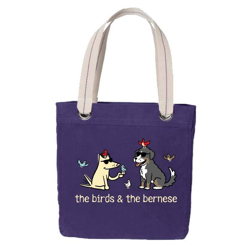 The Birds & The Bernese  - Canvas Tote