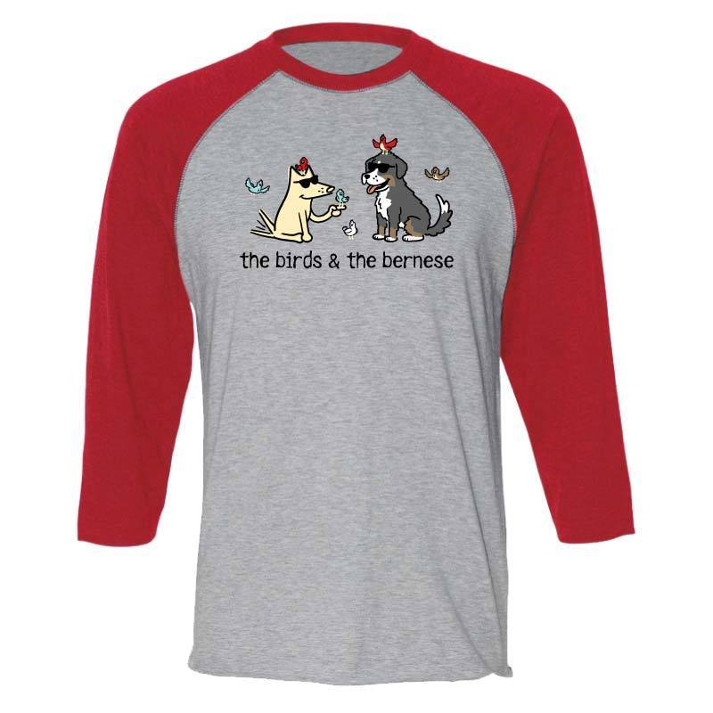 The Birds & The Bernese  - Baseball T-Shirt