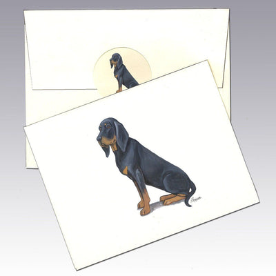 Black and Tan Coonhound Note Cards
