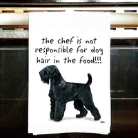 Black Russian Terrier Tea Towel