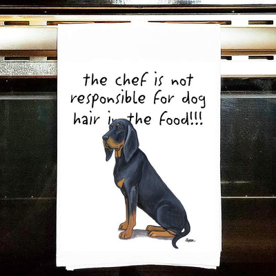 Black and Tan Coonhound Tea Towel