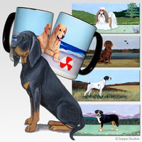 Black and Tan Coonhound Scenic Mug
