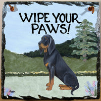 Black and Tan Coonhound Slate Sign