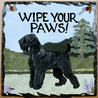 Black Russian Terrier Slate Sign