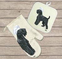 Black Russian Terrier Oven Mitt and Pot Holder