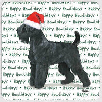 "Black Russian Terrier ""Happy Howlidays"" Coaster"