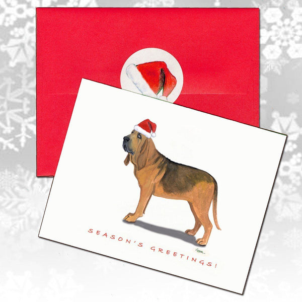 Bloodhound Christmas Note Cards
