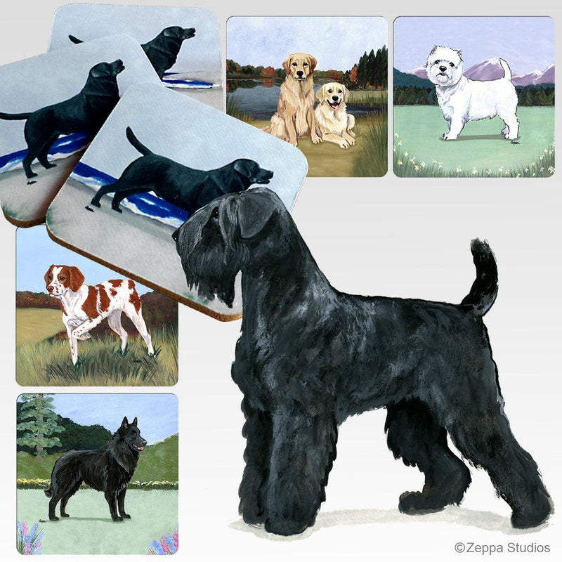 Black Russian Terrier Scenic Coaster