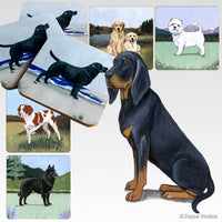 Black and Tan Coonhound Scenic Coaster
