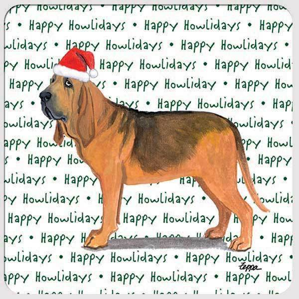 "Bloodhound ""Happy Howlidays"" Coaster"