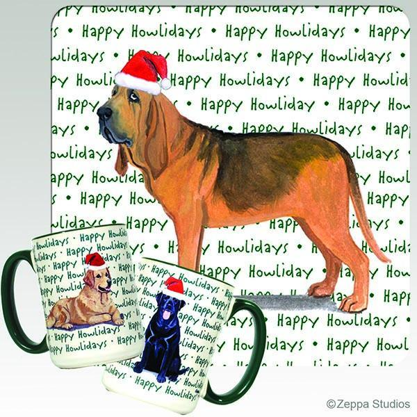 Bloodhound Holiday Mug