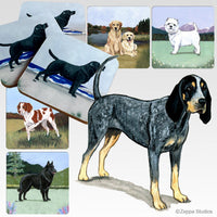 Bluetick Coonhound Scenic Coaster