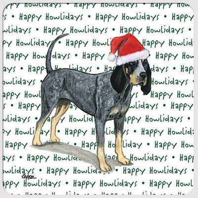 "Bluetick Coonhound ""Happy Howlidays"" Coaster"