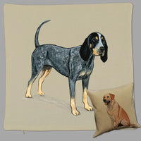 Bluetick Coonhound Pillow Cover