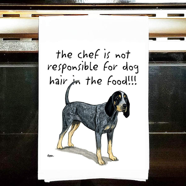 Bluetick Coonhound Tea Towel