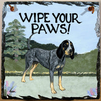 Bluetick Coonhound Slate Sign