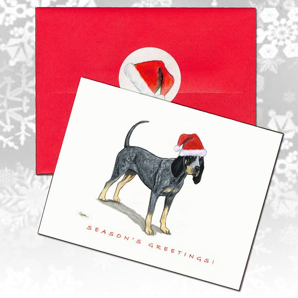 Bluetick Coonhound Christmas Note Cards