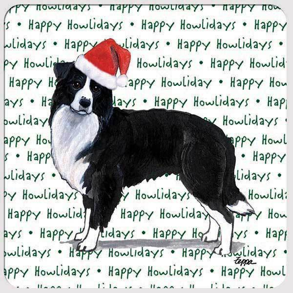 "Border Collie ""Happy Howlidays"" Coaster"