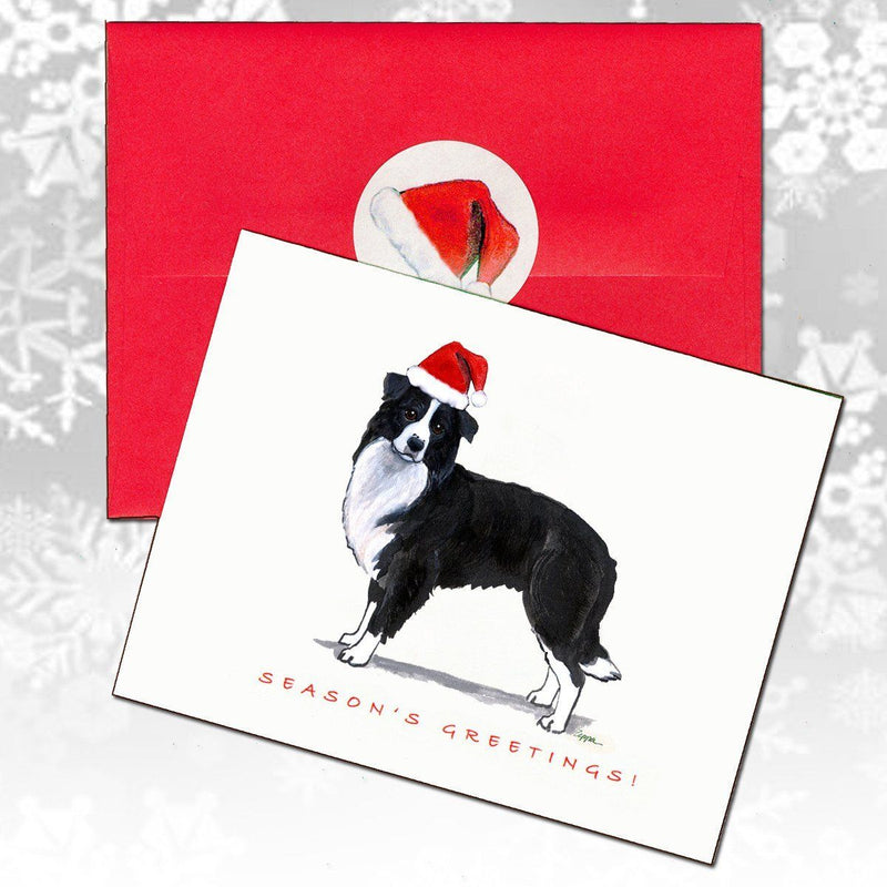 Border Collie Christmas Note Cards