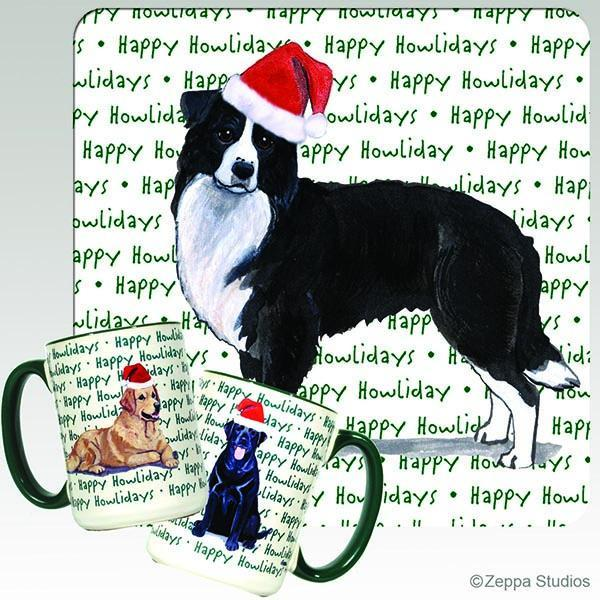 Border Collie Holiday Mug