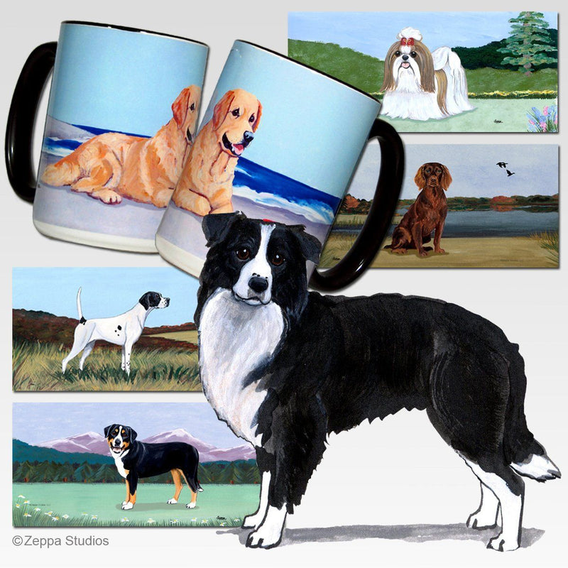Border Collie Scenic Mug