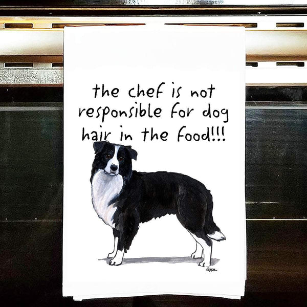 Border Collie Tea Towel