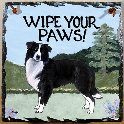 Border Collie Slate Sign