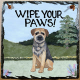 Border Terrier Slate Sign