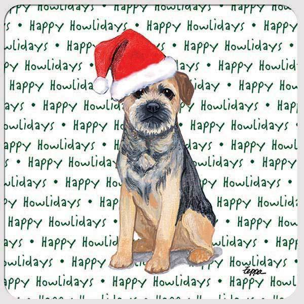 "Border Terrier ""Happy Howlidays"" Coaster"