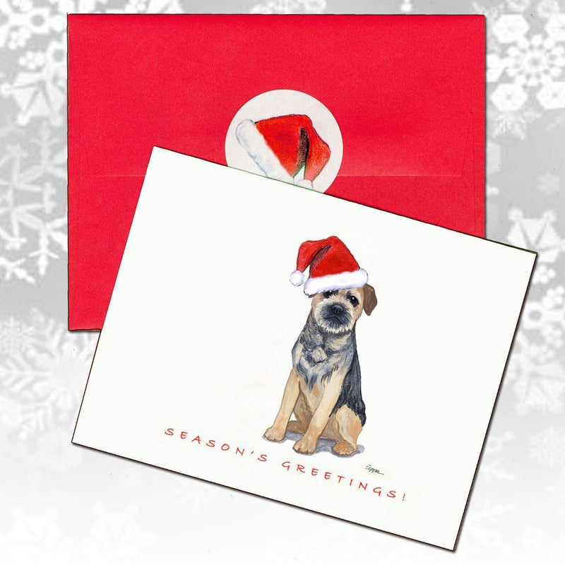 Border Terrier Christmas Note Cards