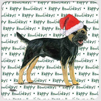"Border Terrier, Black and Tan ""Happy Howlidays"" Coaster"