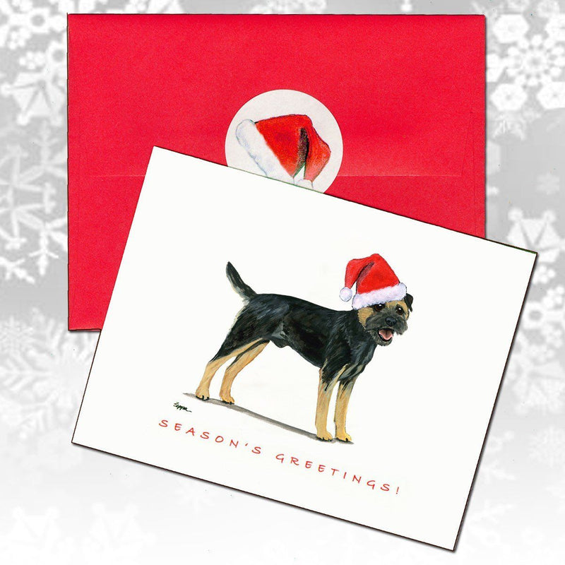 border terrier black and tan christmas note cards  akc shop